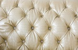 Detail of leather sofa Royalty Free Stock Image