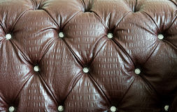 Detail of leather sofa Stock Images