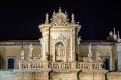 Detail of Lecce Cathedral facade, iconic landmark in Salento, It Royalty Free Stock Image