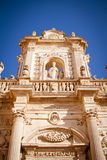 Detail of Lecce's cathedral Stock Photography
