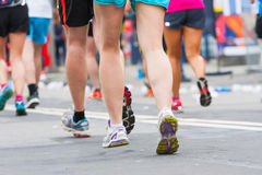 Detail of the legs of runners Royalty Free Stock Photography