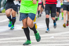 Detail of the legs of runners Stock Photography