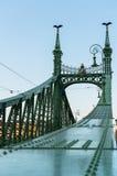 Detail of the Liberty Bridge at dusk, Budapest Stock Photos