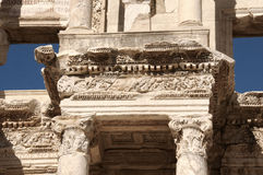 Detail of the library of Celsus in Ephesus Royalty Free Stock Photos