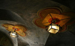 Detail of light in synagogue royalty free stock photography