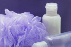 Detail of lila shower set Stock Photos