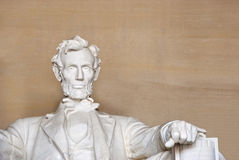Detail of Lincoln Memorial in Washington Stock Photography