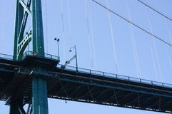 Detail of Lions Gate Bridge Stock Photos