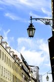 Detail of the Lisbon street lamps. The caravel, symbol of the ci. Detail of the Lisbon street lamps. The caravel symbol of the city Stock Images