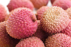Detail of litchis with selective focus Royalty Free Stock Photo