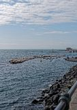 detail of little harbour before castel dell ovo royalty free stock images