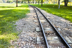 Detail of a little tramway in an urban park of Wie Royalty Free Stock Photo