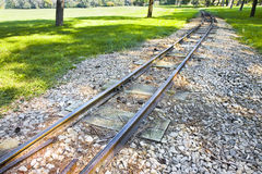Detail of a little tramway in an urban park of Wien Royalty Free Stock Images