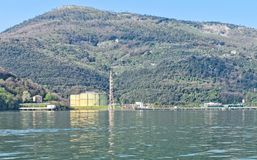 detail of lng terminal in the gulf of la spezia Royalty Free Stock Images