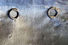The detail of the locomotive with two rounds Royalty Free Stock Photography