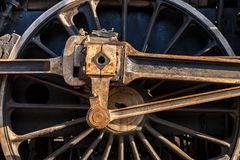 Detail of locomotive wheel stock photos