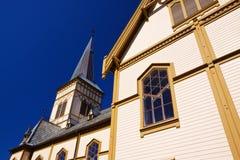 Detail of Lofoten cathedral Royalty Free Stock Photo