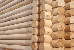 Detail of log cabin. Corner and part of the wall of log cabin Stock Images