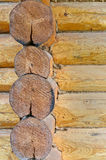 Log wall Stock Photos