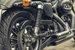 Detail and logo of Harley - Davidson Royalty Free Stock Photos