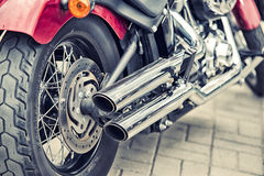 Detail and logo of Harley - Davidson Royalty Free Stock Photo
