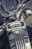 Detail and logo of Harley - Davidson Stock Images