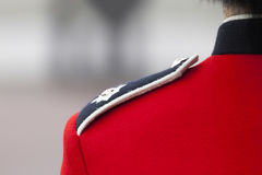 Detail of the London guards uniform Stock Photography