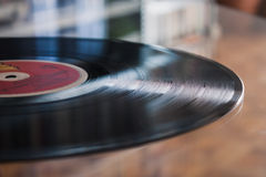 Detail of a long play record Stock Photography