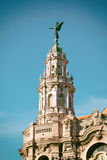 Detail of Lorca Theater in Havana, Cuba Royalty Free Stock Images
