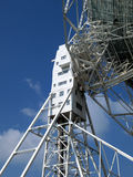 Detail of Lovel Radio telescope. Detail of support tower on the Lovell radio telescope at Jodrell bank cheshire Royalty Free Stock Photography
