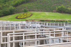 Detail of the Lower Mae Ping Dam in Thailand Royalty Free Stock Images