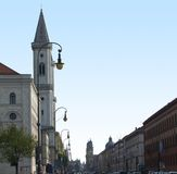 Detail of the Ludwigstrasse in Munich Stock Photography