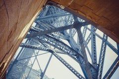 Detail of Luis I Bridge Royalty Free Stock Image
