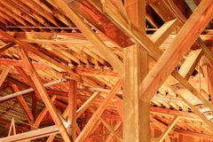 Detail of lumber mill hall Stock Photos
