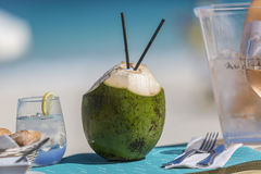 Detail lunch, dessert from Orient Bay in Saint Martin. Photograhy of  lunch, dessert from Orient Bay in Saint Martin Stock Image
