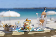 Detail lunch, dessert from Orient Bay in Saint Martin. Photograhy of  lunch, dessert from Orient Bay in Saint Martin Royalty Free Stock Image
