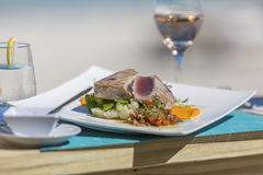 Detail lunch, dessert from Orient Bay in Saint Martin. Photograhy of  lunch, dessert from Orient Bay in Saint Martin Stock Images