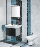 Detail of a luxurious bathroom interior with miror and sink with Stock Photo