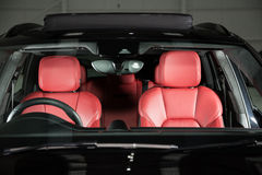 Detail of a luxurious SUV cabin Stock Photo