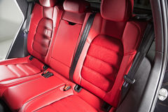 Detail of a luxurious SUV cabin Royalty Free Stock Image