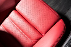 Detail of a luxurious SUV seat Stock Photos