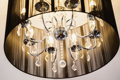 Detail of luxury chandelier royalty free stock photo