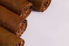Detail of luxury Cuban cigars Royalty Free Stock Images