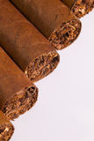 Detail of luxury Cuban cigars Royalty Free Stock Image