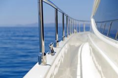 Detail of a luxury motor yacht Royalty Free Stock Photos