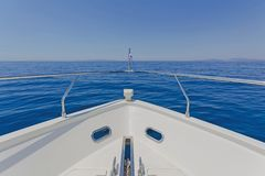 Detail of a luxury motor yacht Stock Photos