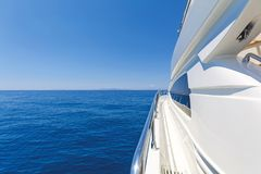 Detail of a luxury motor yacht Royalty Free Stock Images