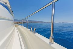 Detail of a luxury motor yacht Stock Photography