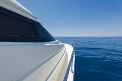 Detail of a luxury motor yacht Stock Image