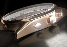 Detail of Luxury Watches TAG Heuer Micrograph stock photography